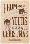Checkerboard Holiday Greeting Cards - From Ours to Yours (HLG-WYS-W)