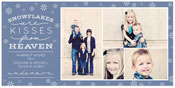Checkerboard Digital Holiday Photo Cards - Snowflake Kisses II (HLG-YOX-T)