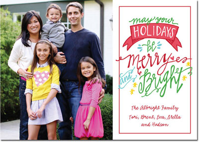 Boatman Geller Digital Holiday Photo Card - Merry & Bright Color (24673)