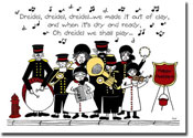 Paper People Holiday Cards - Salvation Army Band (IF11037)