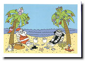 Paper People Holiday Cards - Beach Scene