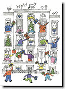 Paper People Holiday Cards - Brownstone