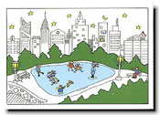 Paper People Holiday Cards - City Skaters