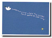 Paper People Holiday Cards - Dove in Sky