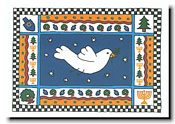 Paper People Holiday Cards - Dove With Border