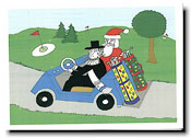 Paper People Holiday Cards - Golf Cart