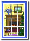 Paper People Holiday Cards - Interfaith Window