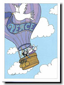 Paper People Holiday Cards - Hot Air Balloon