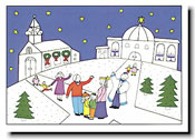 Paper People Holiday Cards - Houses of Worship