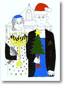 Paper People Holiday Cards - American Gothic Opposite (IF06702)
