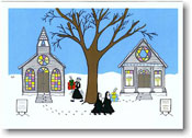 Paper People Holiday Cards - Church and Temple (IF06703)