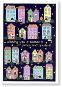 Paper People Holiday Cards - Neighborhood Houses (IF08832)