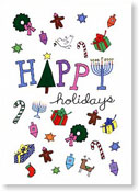 Paper People Holiday Cards - Holiday Symbols (IF08834)