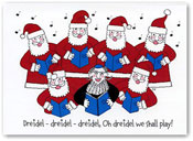 Paper People Holiday Cards - Six Santas And A Rabbi (IF09945)