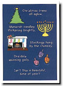 Paper People Holiday Cards - Interfaith Text