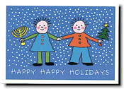 Paper People Holiday Cards - Kids
