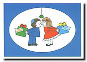 Paper People Holiday Cards - Little Boy And Girl