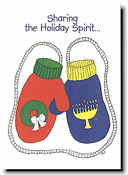 Paper People Holiday Cards - Mittens