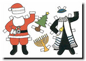 Paper People Holiday Cards - Paper Dolls