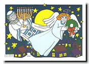 Paper People Holiday Cards - Rabbi And Angel
