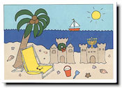 Paper People Holiday Cards - Sand Castles