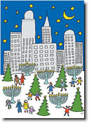 Paper People Holiday Cards - Skyline & Park