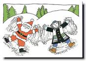 Paper People Holiday Cards - Snow Angels