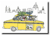 Paper People Holiday Cards - Taxi