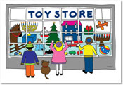 Paper People Holiday Cards - Toy Store
