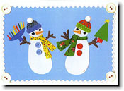 Paper People Holiday Cards - Two Snowmen
