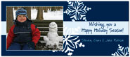 Digital Holiday Photo Cards (Falling Flakes) (CH307)