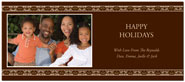 Digital Holiday Photo Cards (Floral Stripe) (CH315)