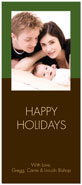 Digital Holiday Photo Cards (Chocolate Dipped - Vertical) (CH319)