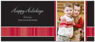 Digital Holiday Photo Cards (Elegant Stripe) (CH331)