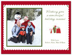Digital Holiday Photo Cards (Scalloped) (CH351)