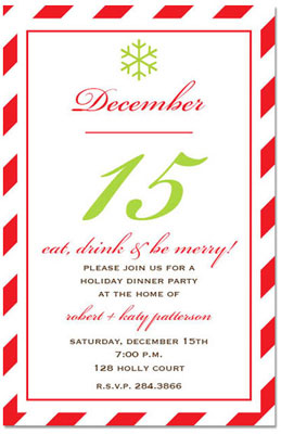 Prints Charming - Holiday Invitations (Merry Merry Holiday) (1182)