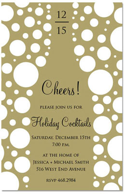 Prints Charming - Holiday Invitations (Cheers! Champagne) (1185)