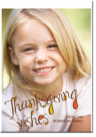 Spark & Spark Holiday Greeting Cards - Thanksgiving Wishes (Photo Cards)
