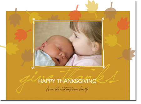 Spark & Spark Holiday Greeting Cards - Wishful Thanksgiving (Photo Cards)