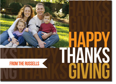 Spark & Spark Holiday Greeting Cards - Thanksgiving Message (Photo Cards)