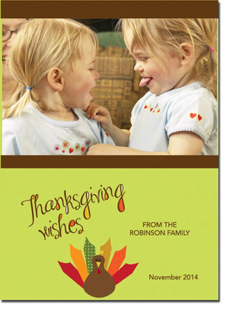 Spark & Spark Holiday Greeting Cards - A Thanksgiving Wish (Photo Cards)