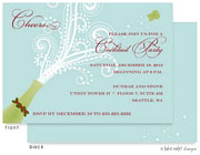 Take Note Designs Digital Holiday Invitations/Greeting Cards - Champagne Holly Blast Horizontal