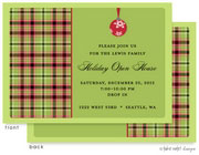 Take Note Designs Digital Holiday Invitations/Greeting Cards - Ornament Wrap Traditional Plaid (TND-A-97709)