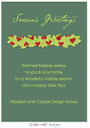 Take Note Designs Digital Holiday Invitations/Greeting Cards - Winter Berry Garland (TND-A-97710)