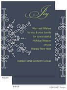 Take Note Designs Digital Holiday Invitations/Greeting Cards - Navy Large Snowflake (TND-A-97722)