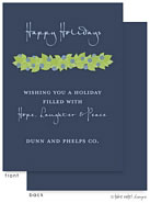 Take Note Designs Digital Holiday Invitations/Greeting Cards - Juniper Berry Garland on Blue (TND-A-97723)