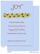 Take Note Designs Digital Holiday Invitations/Greeting Cards - Winter Berry Garland on Blue (TND-A-97724)