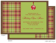 Take Note Designs Digital Holiday Invitations/Greeting Cards - Ornament Wrap with Brown (TND-A-97725)
