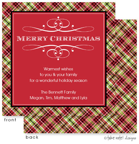 Take Note Designs Digital Holiday Invitations/Greeting Cards - Christmas Cheer (TND-A2-97411)