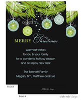 Take Note Designs Digital Holiday Invitations/Greeting Cards - Elegant Ornament Drop (TND-A-97745)
